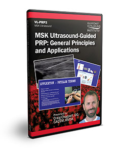 MSK Ultrasound Guided PRP: General Principles and Applications - DVD