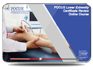 POCUS Lower Extremity DVT Certificate Review