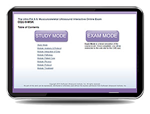 ULTRA P.A.S.S. Musculoskeletal Ultrasound Interactive Registry Review Online Mock Exam
