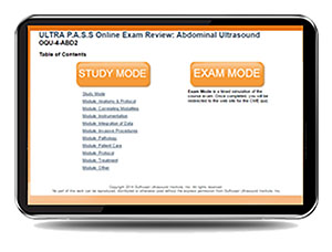 ULTRA P.A.S.S. Abdominal Sonography Interactive Registry Review Online Mock Exam