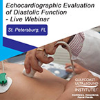 CME - Echocardiographic Evaluation of Diastolic Function - Live Webinar - EDF2-191W