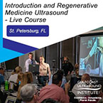 CME - Introduction and Regenerative Medicine Musculoskeletal Ultrasound - MRM-201