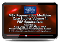 CME - MSK Regenerative Medicine Case Studies Volume 1: PRP Applications