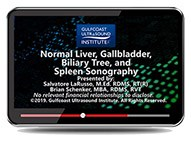 CME - Normal Liver, Gallbladder, Biliary Tree, and Spleen Sonography