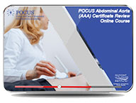 CME - POCUS Abdominal Aorta (AAA) Certificate Review Online Course