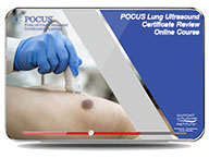 CME - POCUS Lung Certificate Review Online Course