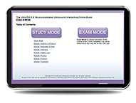 CME - ULTRA P.A.S.S. Musculoskeletal Ultrasound Interactive Registry Review Online Mock Exam
