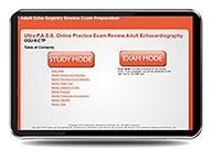 CME - ULTRA P.A.S.S. Adult Echocardiography Interactive Registry Review Online Mock Exam